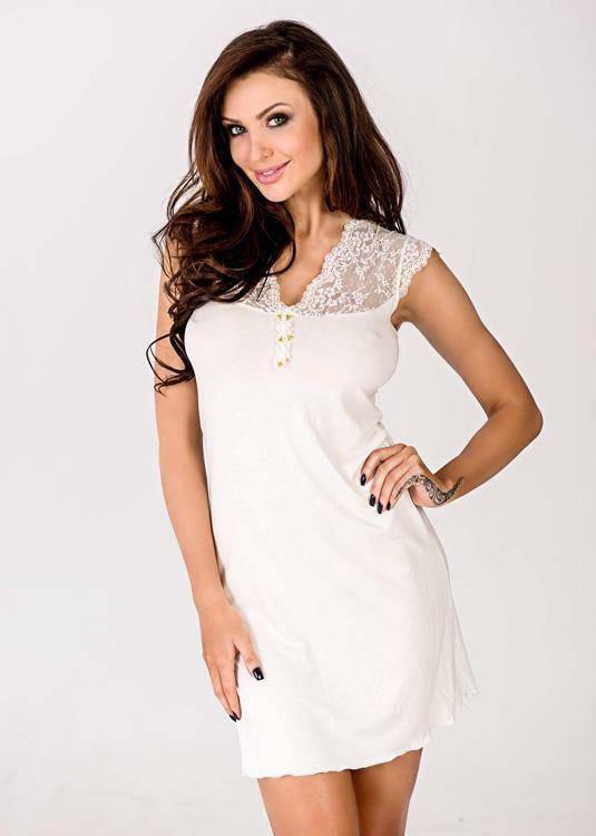 Noční košilka Hamana Melani II cream - M - krémová