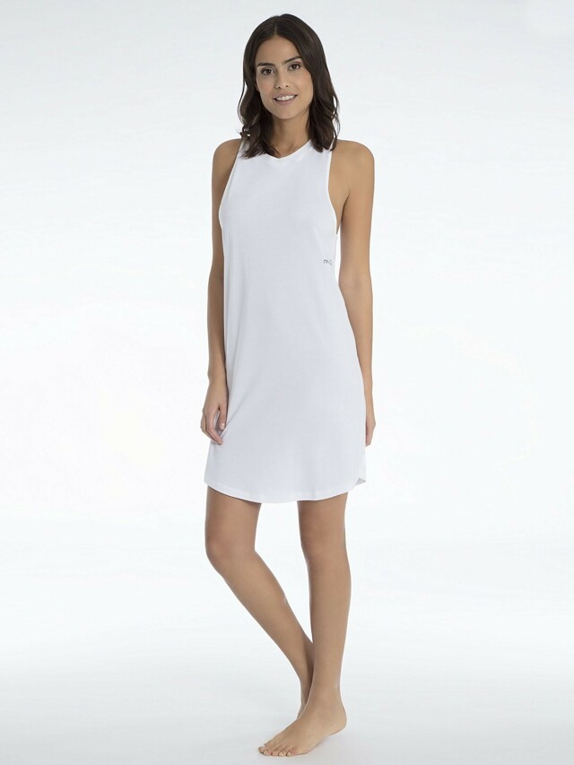 Plážové šaty Tank Dress KW0KW00374-100 bílá - Calvin Klein
