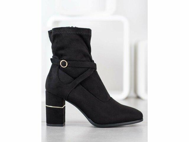 Dámské kotníkové boty HF229B - GOODIN - 39 - černá