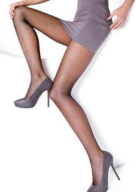 Punčochové kalhoty Mona Rete - 3/4-M/L - černá