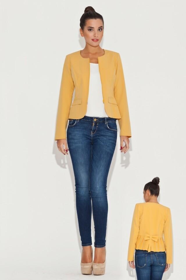 Dámské sako K054 yellow - XL - žlutá