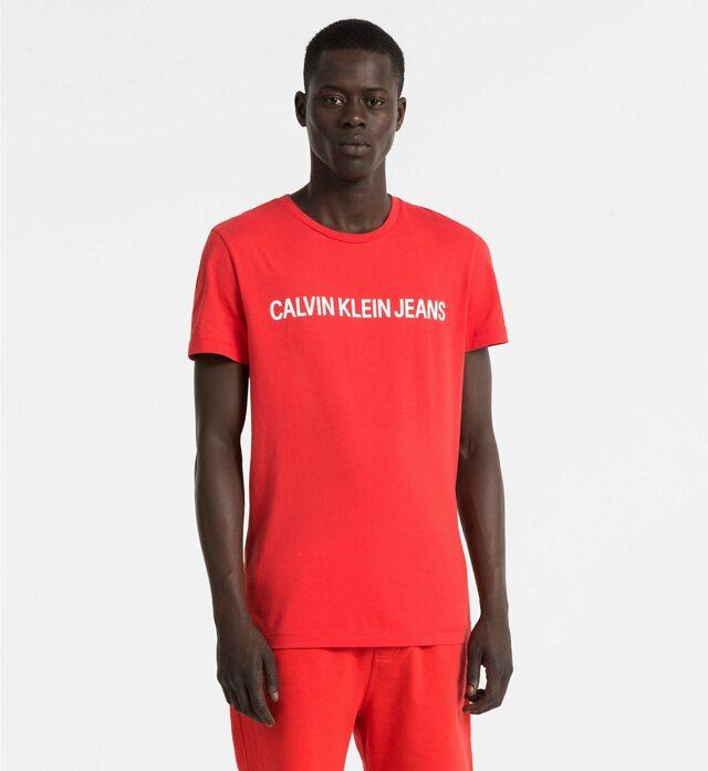 Pánské tričko OU38 červená - Calvin Klein - S - červená