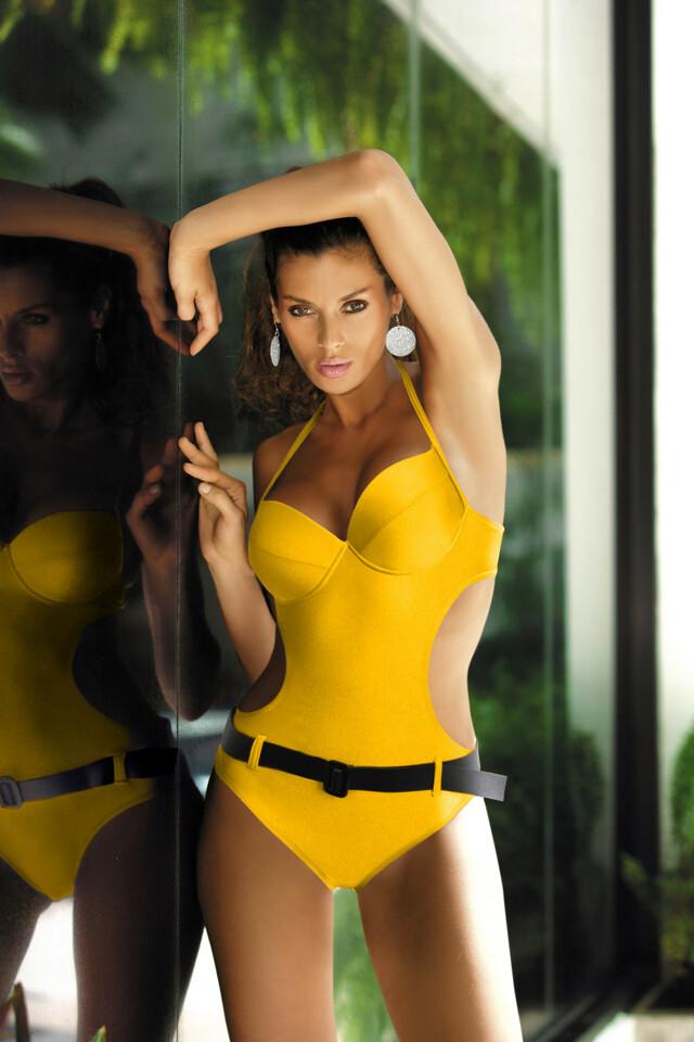 Jednodílné plavky model Vanessa Marko - M - žlutá