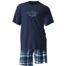 Pánské pyžamo 4902 - Vamp - M - tm.modrá s potiskem