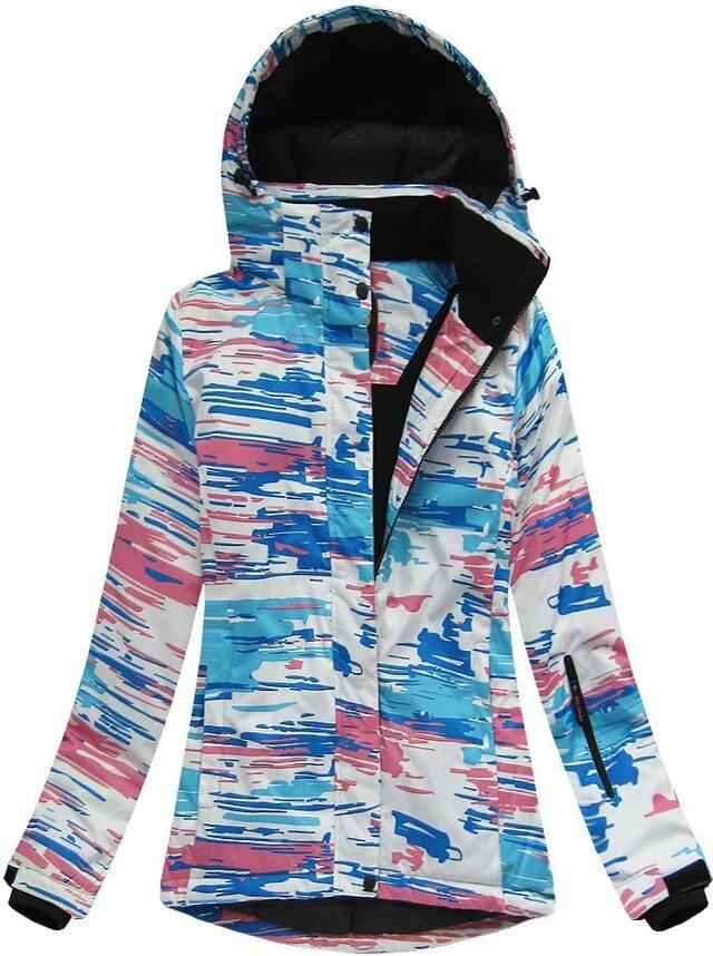 Bílo-modrá dámská zimní bunda s membránou (W185) - S (36) - modrá