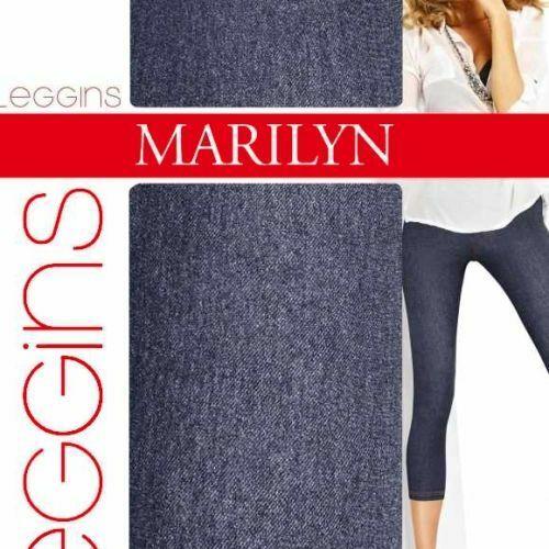 Dámské legíny Legginsy Jeans 789 - Marilyn - S/M - černá