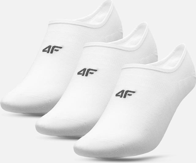 Pánské nízké ponožky 4F SOM300 Bílé (3páry) - 39-42 - Bílá
