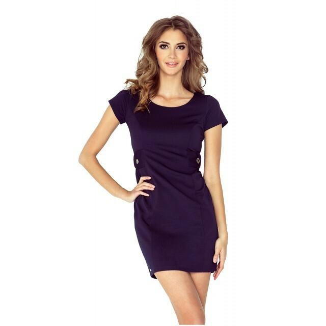 Dámské šaty 010-1 - Numoco - M - granátová