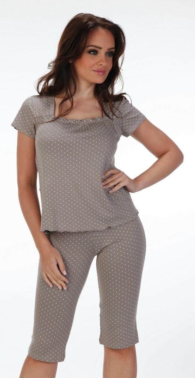 Pyžamo Forex Puntíky 919 - XL - šedá