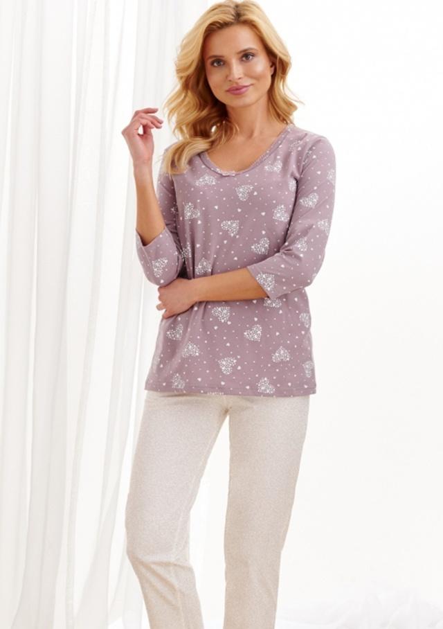 Dámské pyžamo Taro 2446 - XL - Starorůžová1