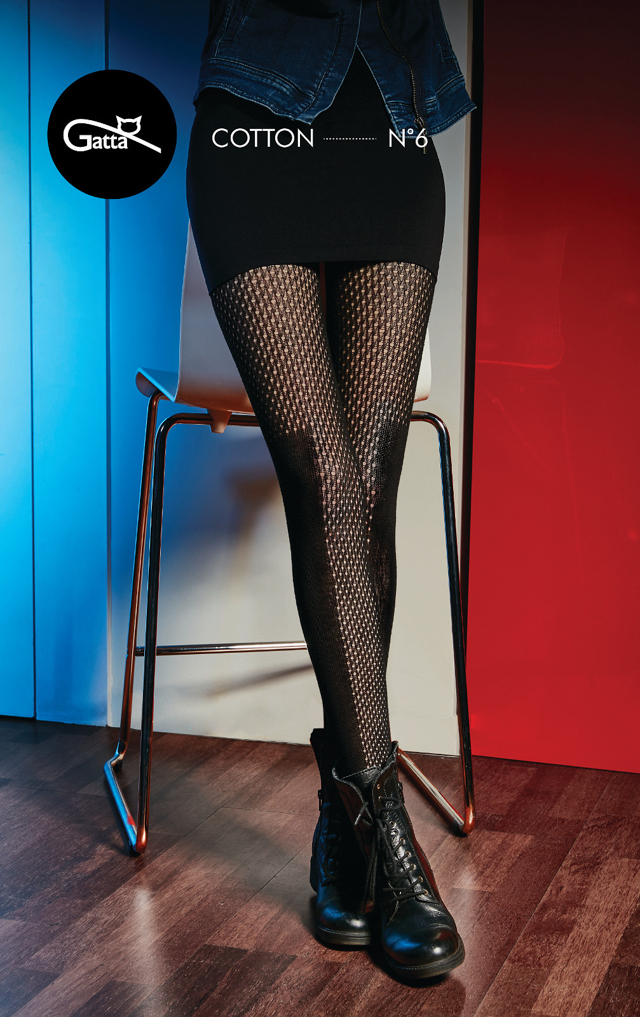 Dámské punčochové kalhoty Gatta G88.716 Trendyline Cotton vz.06 - 2-S - nero