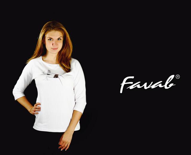 Dámské triko Alenka - Favab - XL - bílá