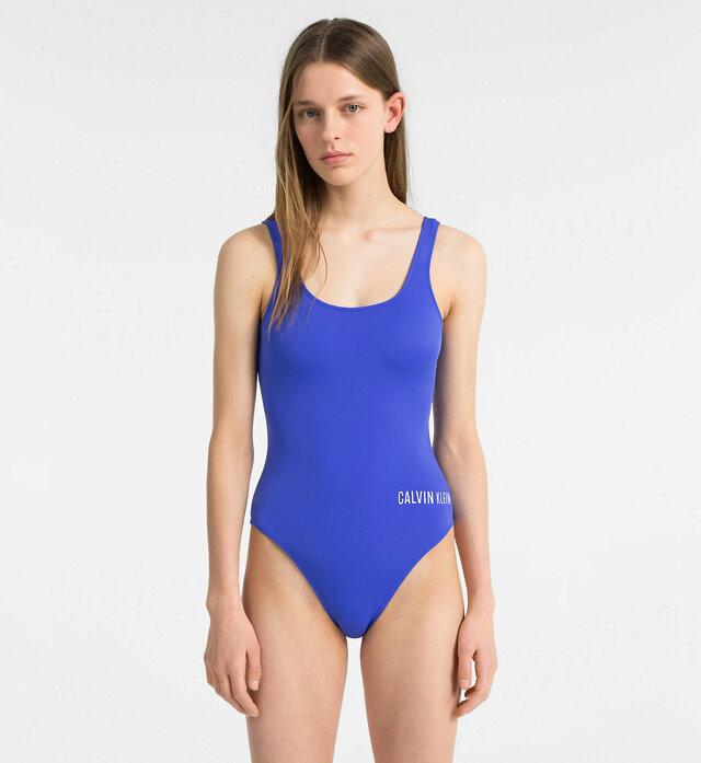 Jednodílné plavky KW0KW00269-414 modrá - Calvin Klein
