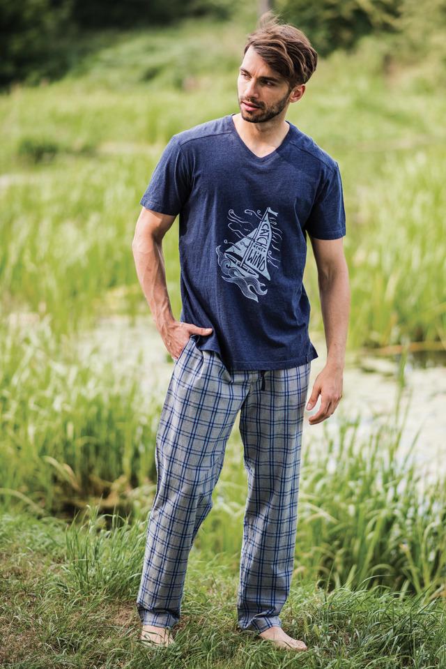 Pánské pyžamové kalhoty MHT 444 A19 - 2XL