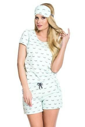 Dámské bavlněné tyrkysové pyžamo Rozi