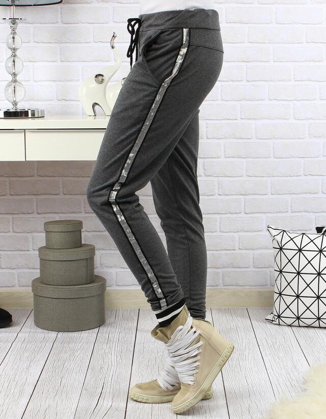Dámské teplákové kalhoty Aggie s lampasem (uy0059) - miLADY