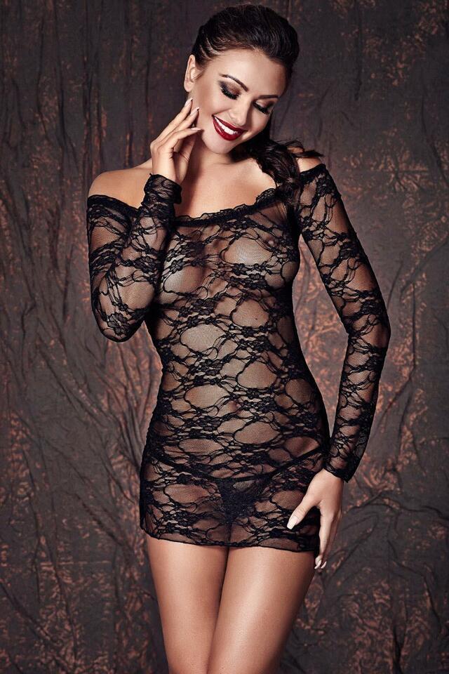 Sexy komplet Anais Lynette - 2XL - černá