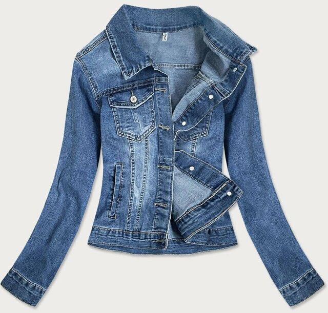 Světle modrá krátká dámská džínová bunda (X-758) - S (36)