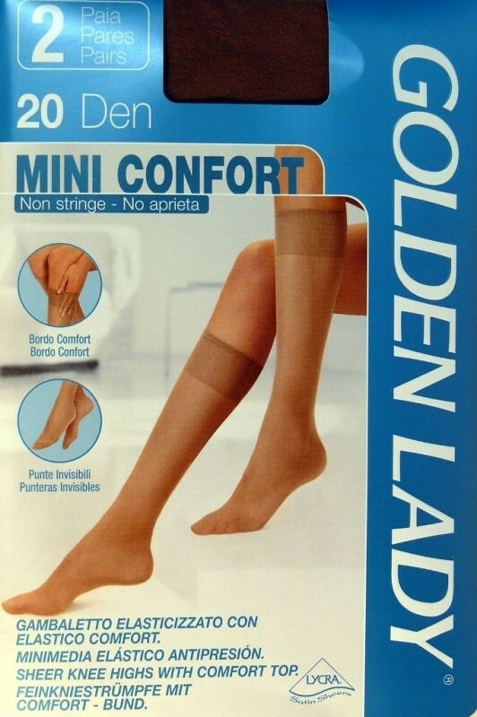 Podkolenky |Golden Lady| Mini Confort 20 den A`2 - 3/4-M/L - odstín béžové