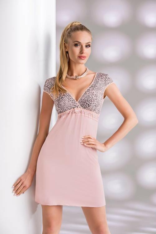 Noční košilka Donna Marika - powder pink - XL - pudrový ruž