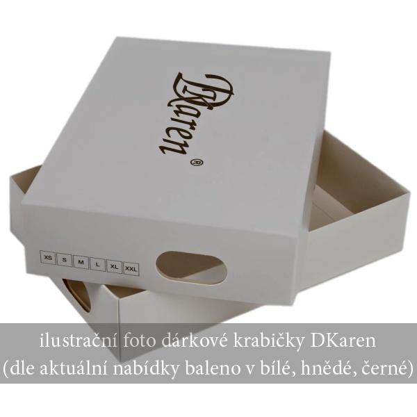 Dámská saténová košilka Marita bílá - XXL