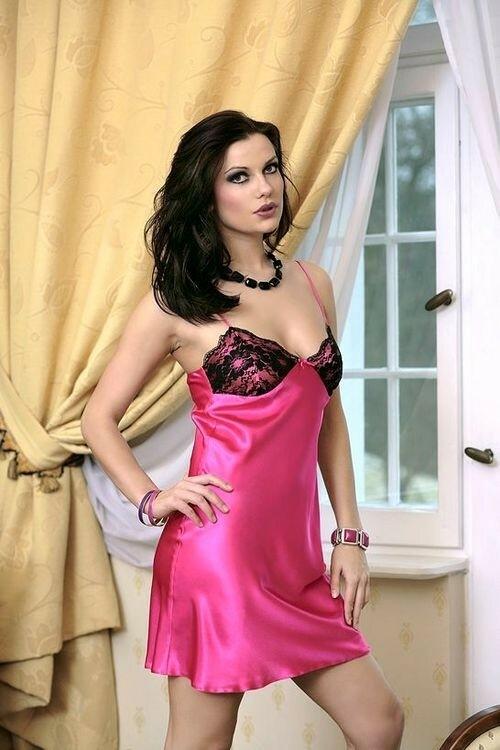 Dámská košilka Agnes dark pink - S - sytě růžová