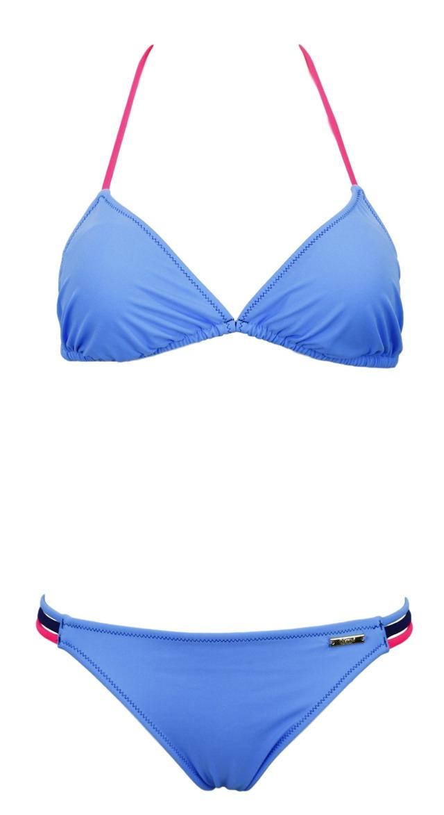 Dámské dvojdílné plavky Elin 2 M-344 - Marko - 2XL/L - růžová-modrá