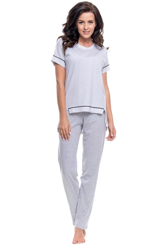 Dámské pyžamo Dn-nightwear PM.9092 - M - šedá