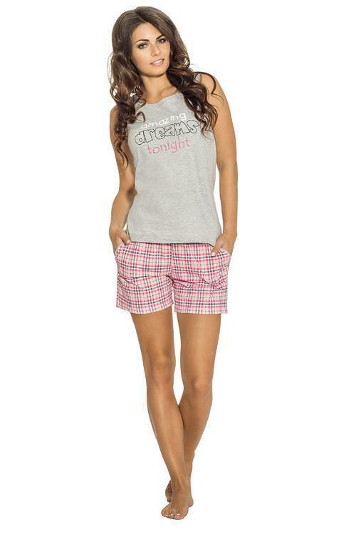 Dámské pyžamo Luna 640-3 - XL - šedá