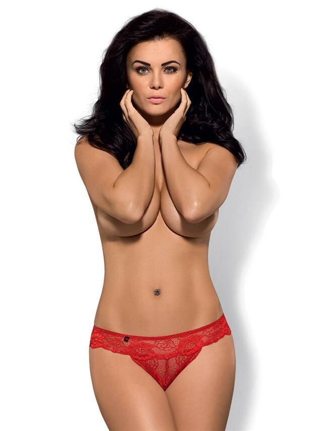 Kalhotky Secred panties Obsessive - S/M - červená