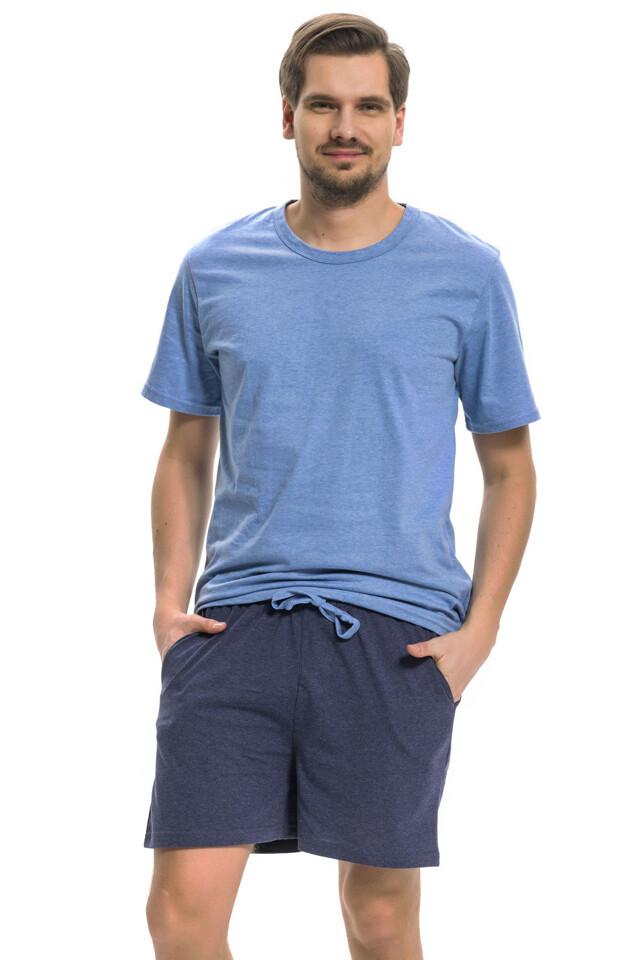 Krátké pánské pyžamo Johnny modré
