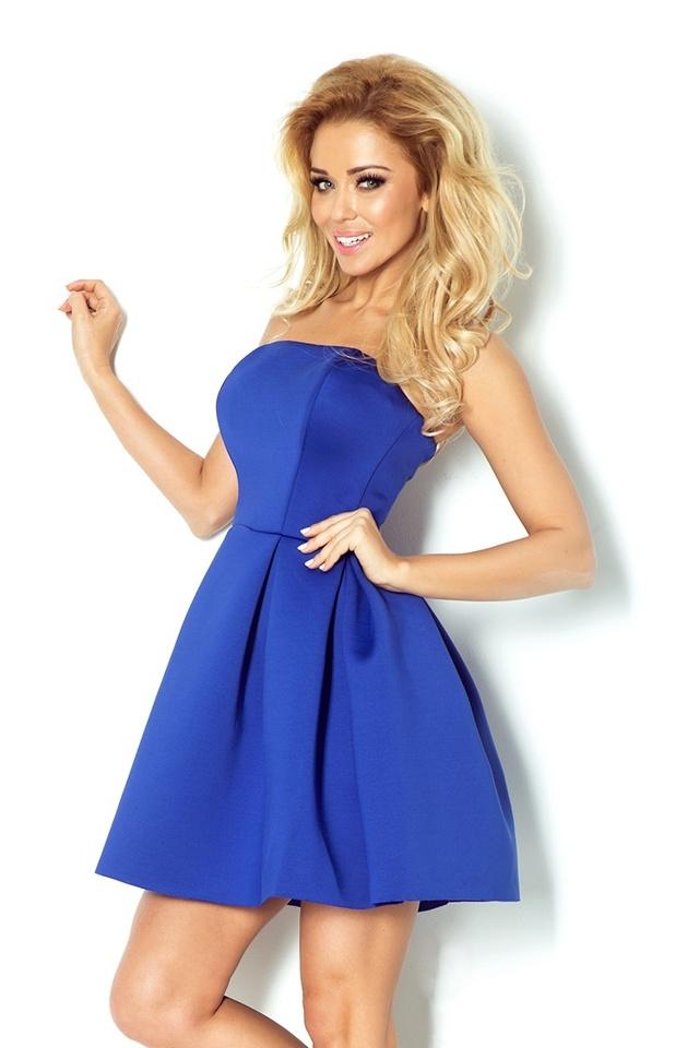 Modrofialové šaty s korzetem 82-1