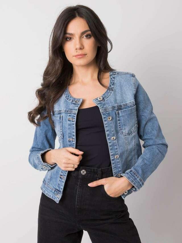 Modrá krátká džínová bunda - XL
