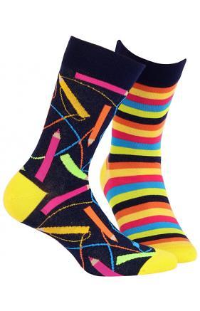 Pánské ponožky Wola W94.N02 Funky - 39-42 - navy d64f453240