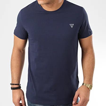 Pánské tričko U94M09JR004-NVY tmavěmodrá - Guess - XL - tmavě modrá