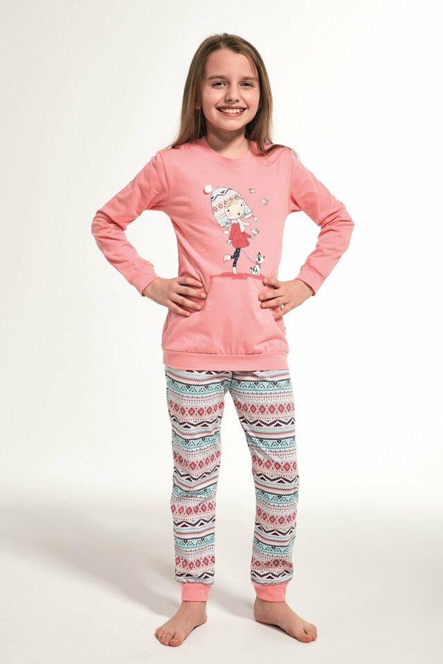 Dívčí pyžamo 594/107 Kids walk - 86/92 - růžová