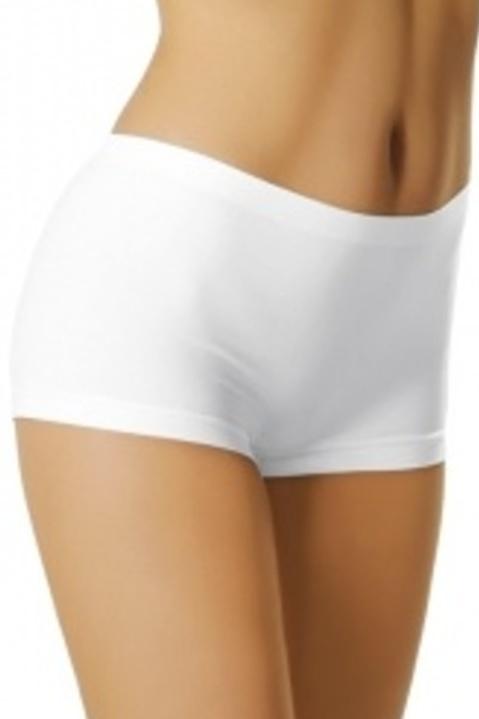 Dámské kalhotky bílé s krátkou nohavičkou - S