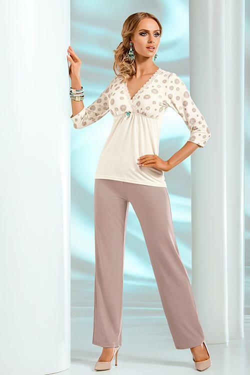 Dámské pyžamo Donna Fabia PJ - XL - krémová