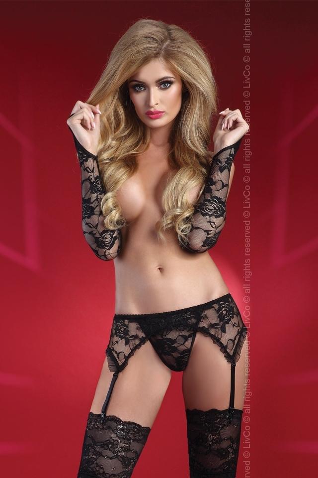 Erotická souprava Calandra - L/XL - černá