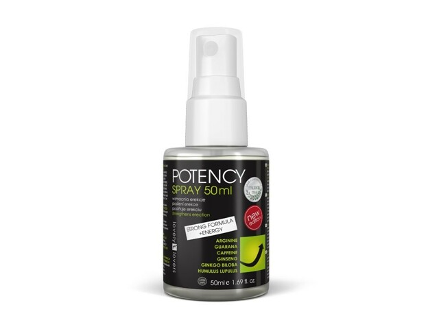 Intimní sprej Potency Spray Strong Formula + Energy 50ml - Lovely Lovers