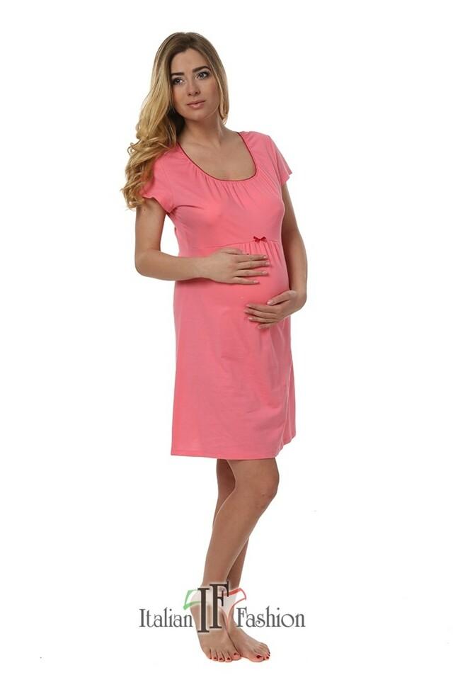 Dámská kojící noční košile Dagna pink - M - růžová