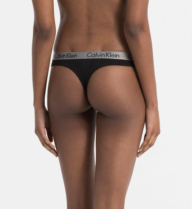 Tanga QD3539E-001 černá - Calvin Klein