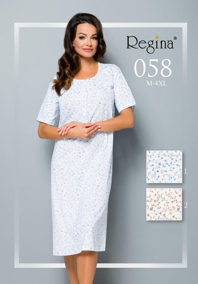 058 Dámská noční košile - REGINA - modrá - M 682698945c