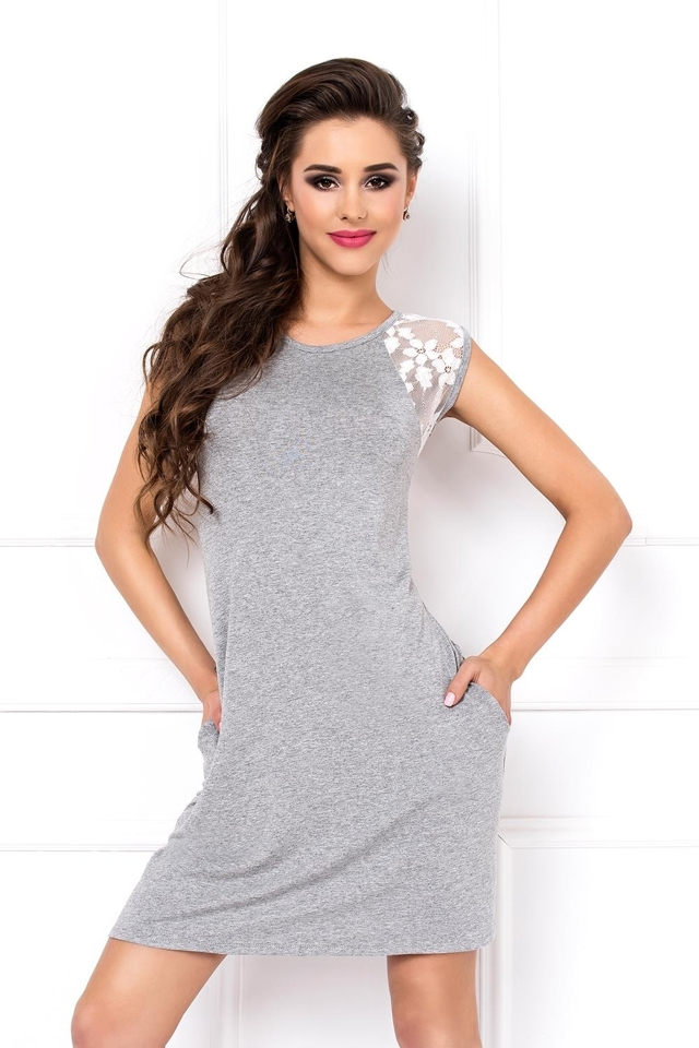 Noční košile Kora 1 - XL - šedá