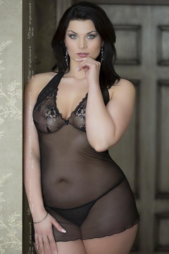 Erotická košilka Marylin black XXL - XL - černá