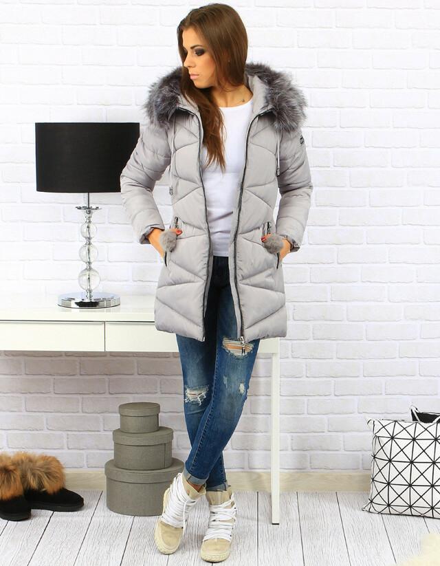 Dámská zimní bunda s kapucí BH-1764 (ty0181) - Forever - 2XL - granátová