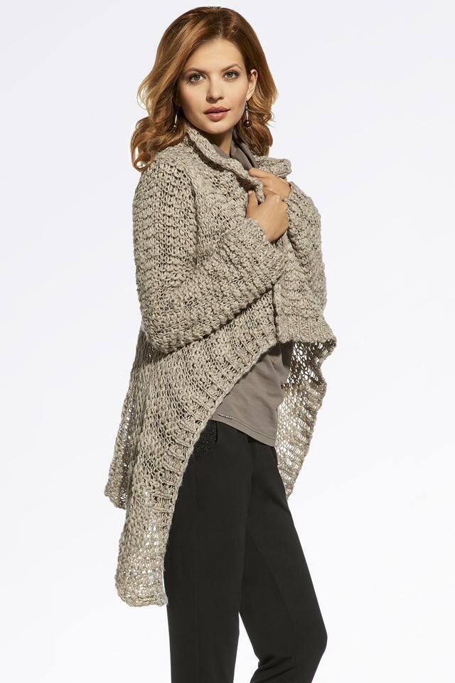 Dámský elegantní svetr Ennywear 220032 - UNI - béžová