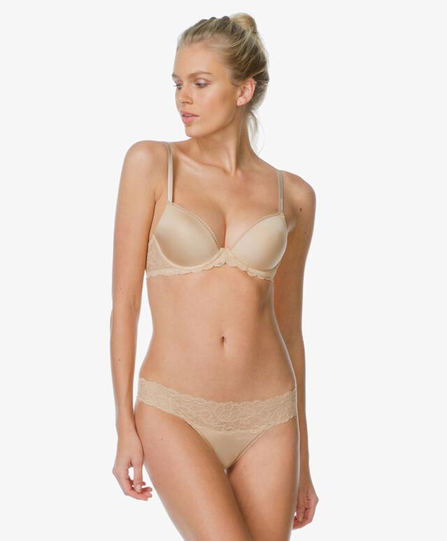 Kalhotky Seductive Comfort Lace F1199E - Calvin Klein - M - hnědá