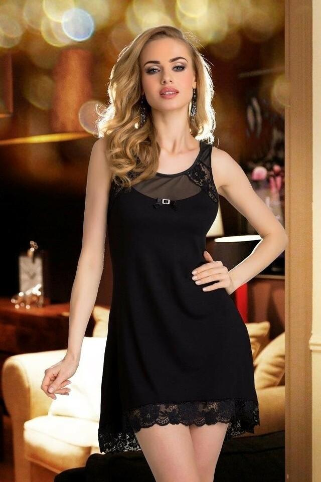 Dámská noční košilka Eldar First Lady Lilia - S - černá