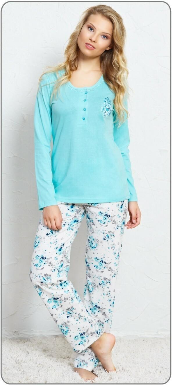 Dámské pyžamo dlouhé Karolína - světle růžová XXL